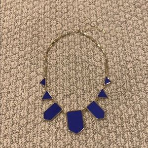 House of Harlow Gold and blue necklace